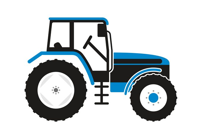 Blue Tractor Party Theme